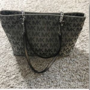 Michael Kors monogram grey tote bag